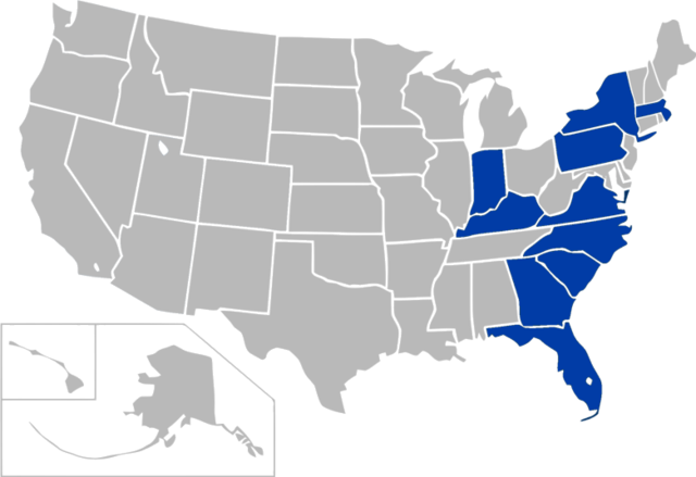 Atlantic Athletic Conference Map