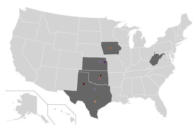 Big 12 Conference Map