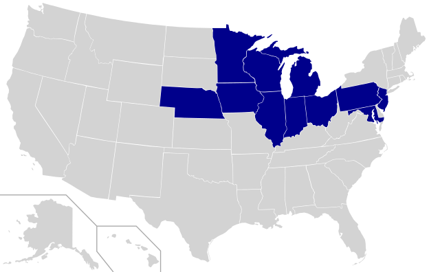 Big Ten Map