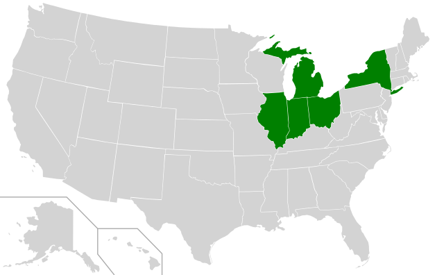 Mid-American Conference Map