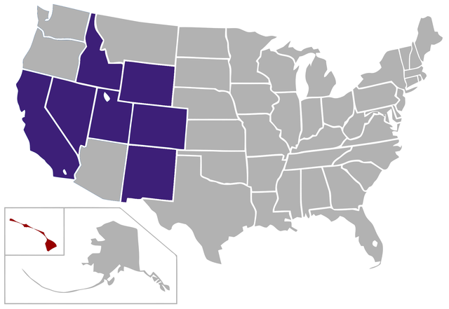 Mountain West Conference Map