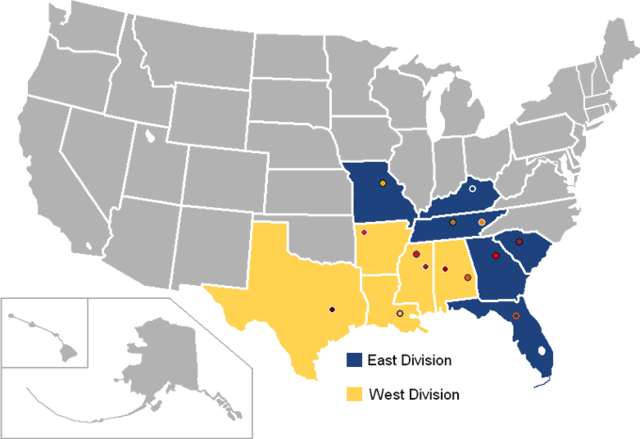 Southeastern Conference Map